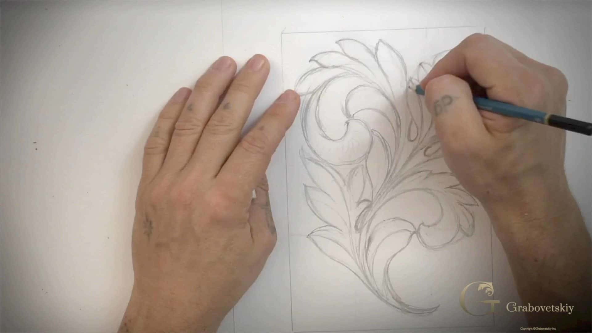 Woodcarving School Online Gabovetskiy Alexander- Learn to Carve Greek Acanthus Leaf one of the ancient forms of Acanthus Wood Carving