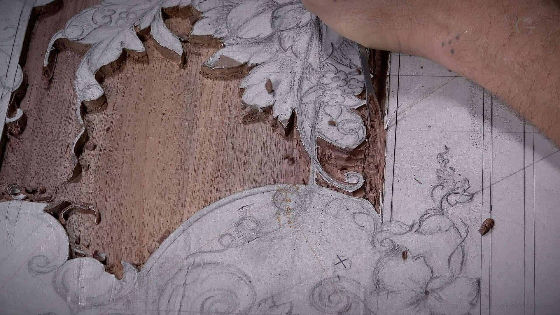 Woodcarving, From Designing to Carving - Learn To Carve Late 18th Century Style Furniture Panel - Woodcarving School Online with Alexander Grabovetskiy. @grabovetkiy #woodcarving #woodworking Woodcarving Video Workshops. Woodcarving Lessons. Wood Carving Virtual Apprenticeship. Classical Woodcarving Courses online.