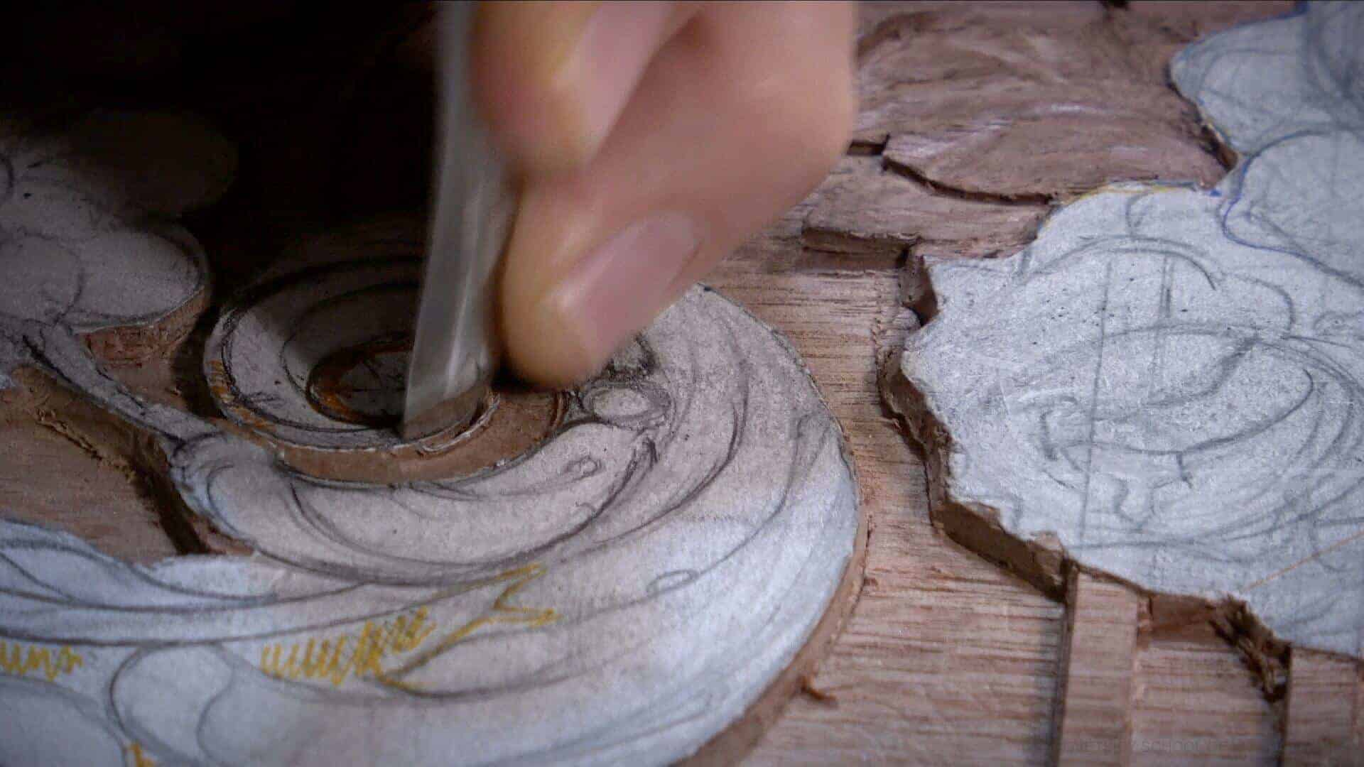"""From Designing to Carving - Learn To Carve Late 18th Century Style Furniture Panel - Woodcarving School Online with Alexander Grabovetskiy. @grabovetkiy #woodcarving #woodworking Woodcarving Video Workshops. Woodcarving Lessons. Wood Carving Virtual Apprenticeship. Classical Woodcarving Courses online. Low relief Carving for furniture, also known as Flemish or Liège style was very popular from the 16th to 19th century in Belgium-Franch culture. It also migrated to England and was incorporated by Great Furniture makers such as Thomas Chippendale. In this Class we will discover the beauty and beauty and richness of low relief carving. We will learn Design approach to Low relief. - How to make it look very 3d even if it only 1/8"""" (3mm) deep We will learn The Law of Space. - How to emphasize parts of a Design - """"The Big Idea"""" position in Space The Law of Main Movement - How to be """"on the same page"""" with the Human Brain. Baroque diagonal vs Sinister diagonal in Artistic Design. The Law of Armature- How to Structure overall Design and be """"Kosher"""" (clean) in it. The Law of Golden Ratio - How to implement Fibonacci Sequence - the Art Secret for Pleasing Human eye The Law of Arabesque - How to implement Natural Flowing Movements in Design The Law of Rhythm in Design. How to apply what is known to the Music world to Design for Wood Carving. Carving process of Low relief. - Special Techniques of Low Relief Carving… Yes, it is much different from normal woodcarving. Sharpening Wood Carving Tools- How to sharpen Your Tools without wasting valuable time. By the Way. Low relief carving is not limited to furniture and cabinetmaking world. There is no limit of what You can do with this style of wood carving."""