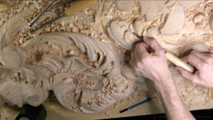 Wood Carving course Venetian inspired room