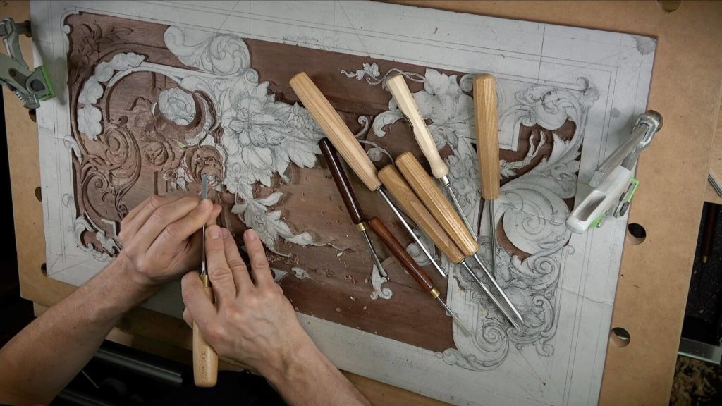 Is Walnut good wood for woodcarving? Carving Furniture Panel -Woodcarving, From Designing to Carving - Learn To Carve Late 18th Century Style Furniture Panel - Woodcarving School Online with Alexander Grabovetskiy. @grabovetkiy #woodcarving #woodworking Woodcarving Video Workshops. Woodcarving Lessons. Wood Carving Virtual Apprenticeship. Classical Woodcarving Courses online.